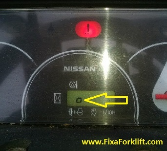 Nissan Hour meter shows an O